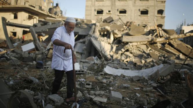 Serangan udara tentara Israel di Jalur Gaza