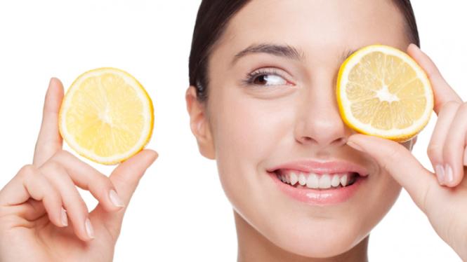 Ilustrasi lemon untuk kecantikan