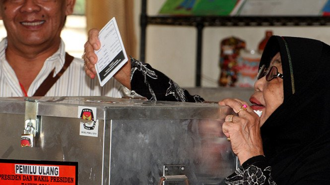 Ilustrasi pencoblosan saat pemilu.