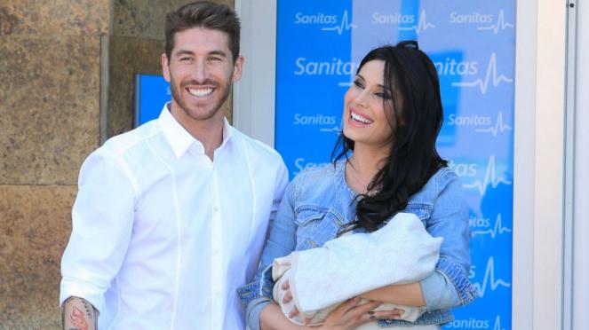 Sergio Ramos dan kekasihnya, Pilar Rubio