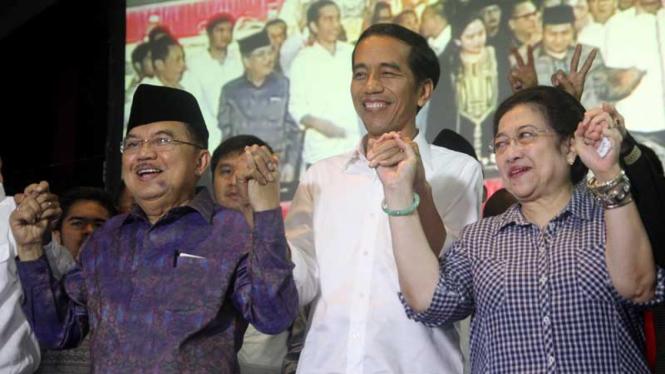 Megawati Sampaikan Ucapan Selamat ke Jokowi-JK