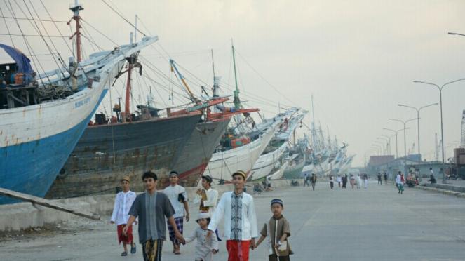 Sholat Ied 1435H di Pelabuhan Sunda Kelapa