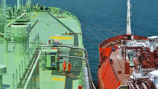 Kapal Tanker Penyuplai Elpiji Pertamina