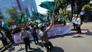 HMI Demo di Pengadilan Tipikor. Foto ilustrasi.