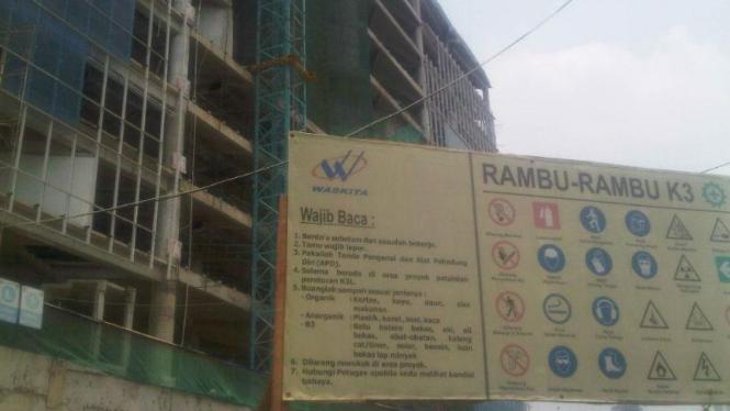 Salah satu proyek PT Waskita Karya Tbk.