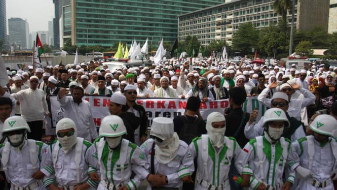 Demo tolak Basuki Tjahaja Purnama sebagai Gubernur DKI Jakarta