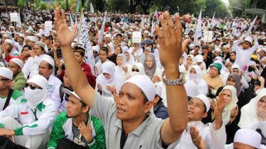 Ilustrasi Massa dari Front Pembela Islam.