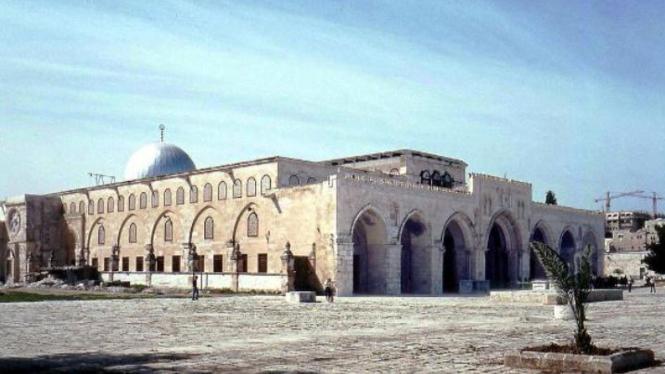 Kompleks Masjid Al-Aqsa di Kota Yerusalem.