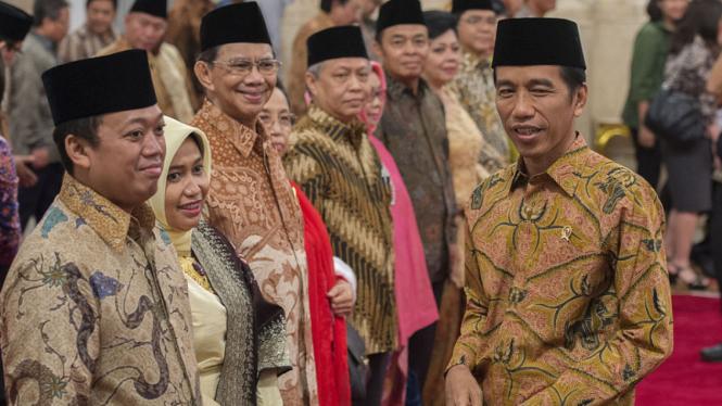 Presiden Jokowi dan Nusron Wahid di Istana Negara.