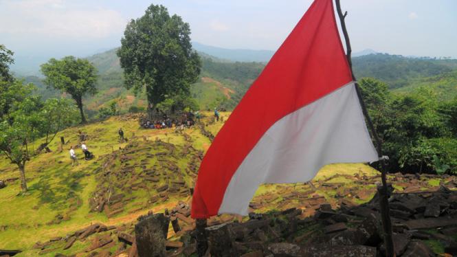 Ilustrasi/Situs megalitikum Gunung Padang
