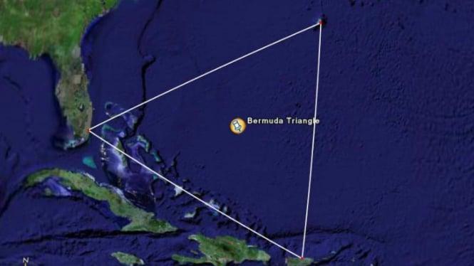 Ilustrasi Segitiga Bermuda