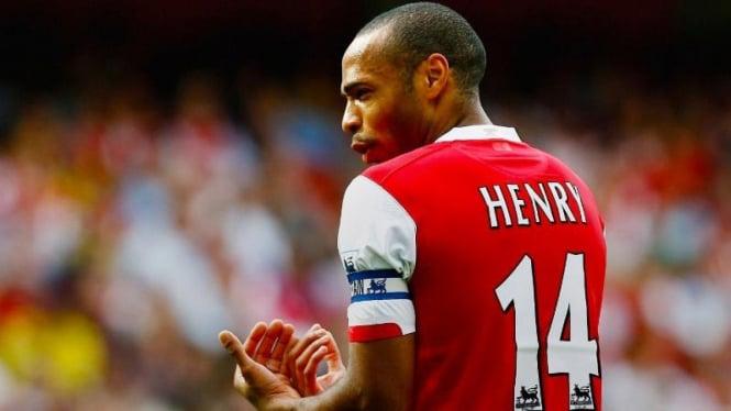 Thierry Henry saat masih memperkuat Arsenal