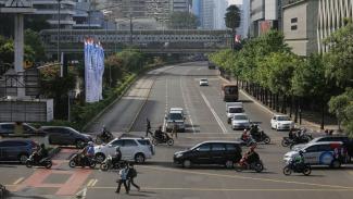 Larangan Sepeda Motor sempat berlaku di beberapa ruas jalan Kota Jakarta.