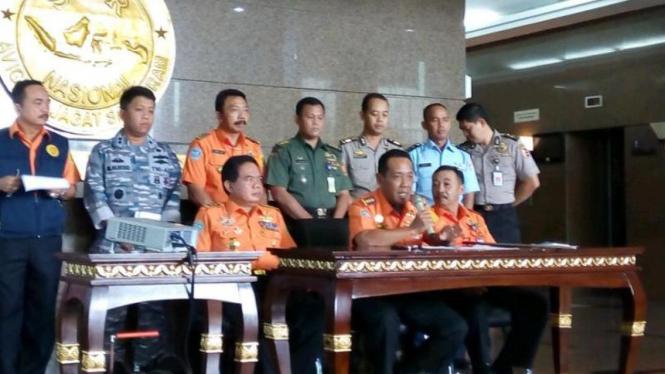 Jumpa pers Basarnas, Jakarta, Sabtu 3 Januari 2015.