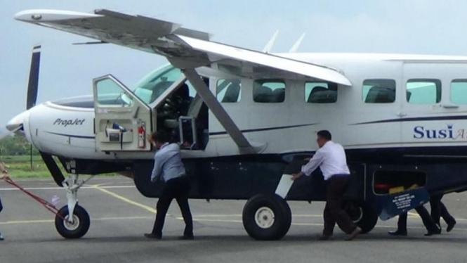 Pesawat milik Susi Air/Ilustrasi.