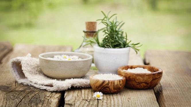 Ilustrasi herbal atau spa