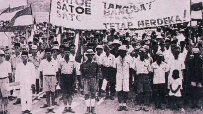 Ilustrasi masa perang kemerdekaan RI.