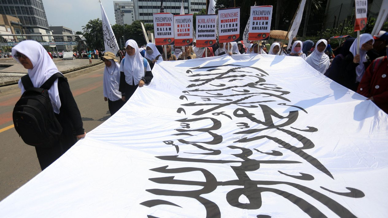 Ilustrasi Anggota Hizbut Tahrir Indonesia (HTI).