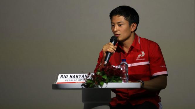 Pembalap F1 asal Indonesia, Rio Haryanto.