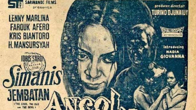 Poster Film Si Manis Jembatan Ancol. Film produksi Sarinande Films ini perdana tayang pada 1973.