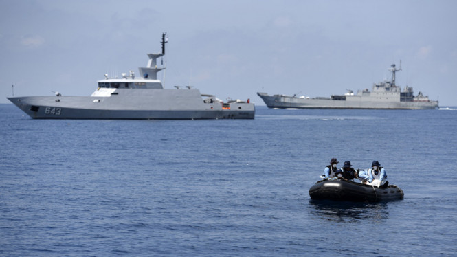 Kapal patroli Koarmabar TNI AL. Foto ilustrasi