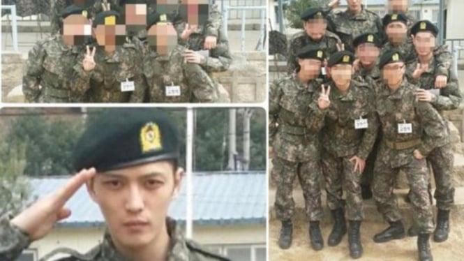 Jaejoong dalam seragam militer
