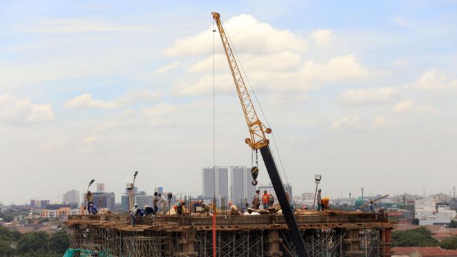 Ilustrasi pembangunan properti.