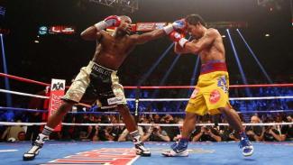 Floyd Mayweather saat melawan Manny Pacquiao