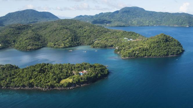 Ilustrasi Pulau di Inodnesia.
