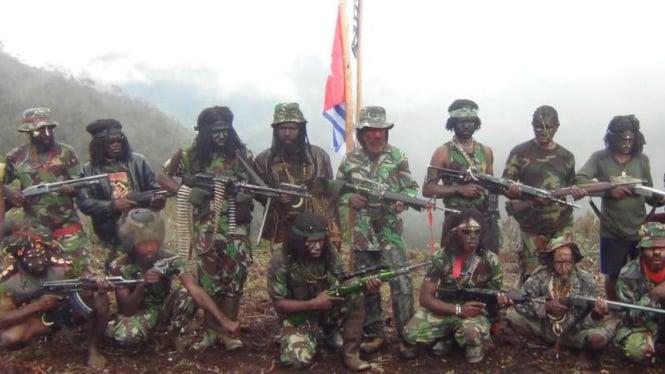 Ilustrasi kelompok bersenjata yang bermarkas di Lanny Jaya, Papua.