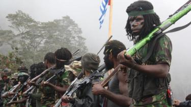 Ilustrasi kelompok bersenjata di Papua.