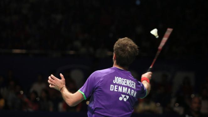 Kento Momota vs Jan O Jorgensen di Final Indonesia Open 2015