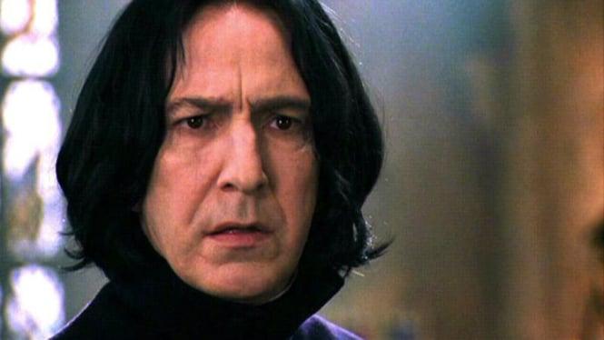 Alan Rickman sebagai Profesor Severus Snape di film Harry Potter