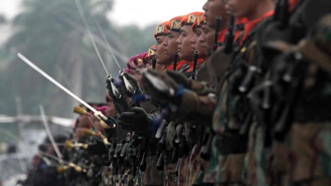 Pasukan Koopssus. Satuan Gabungan Elite TNI Antiteror.
