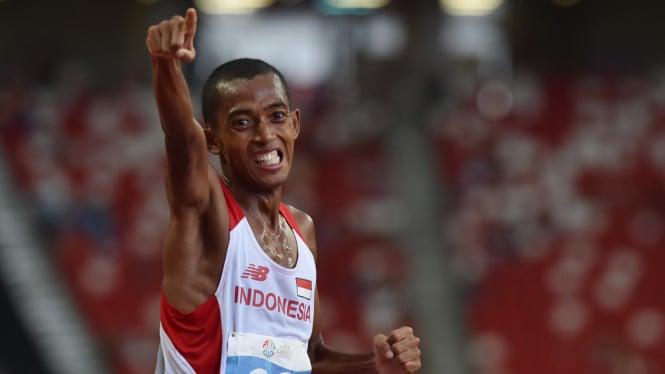Agus Prayogo Persembahkan Emas Nomor Lari 10 Ribu Meter