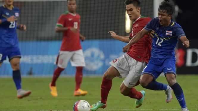 Timnas Indonesia saat melawan Thailand