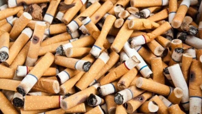 Ilustrasi/Puntung rokok