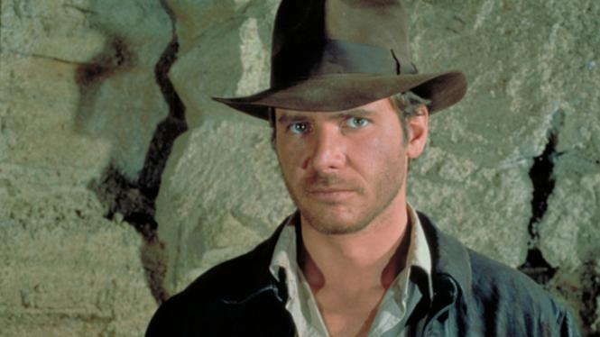 Harrison Ford dalam film Indiana Jones