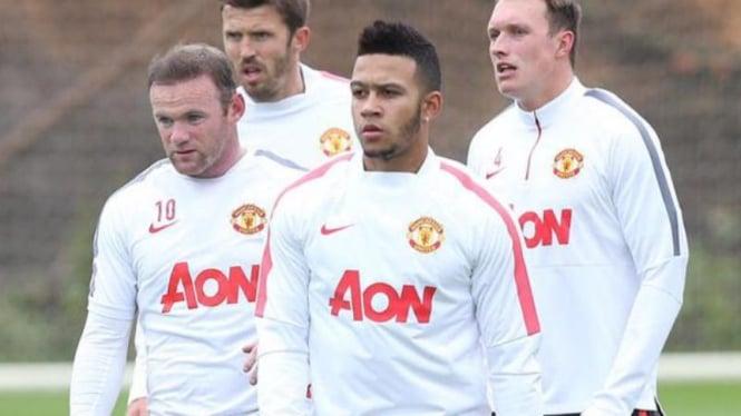 Pemain Manchester United, Wayne Rooney dan Memphis Depay