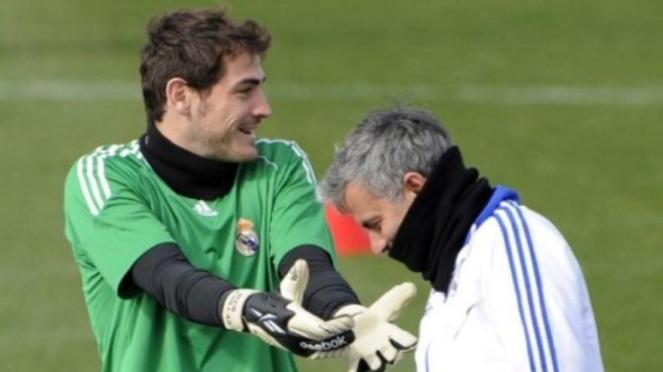 Iker Casillas dan Jose Mourinho