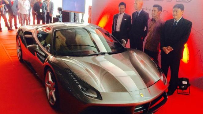 Launching Ferrari 488 GTB di Jakarta.