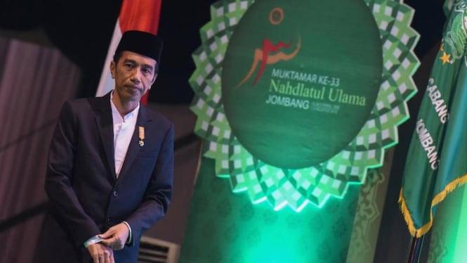 Presiden Joko Widodo membuka Muktamar Nahdlatul Ulama ke-33 di Jombang