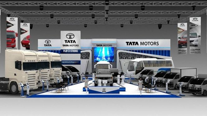 Sketsa booth Tata Motors
