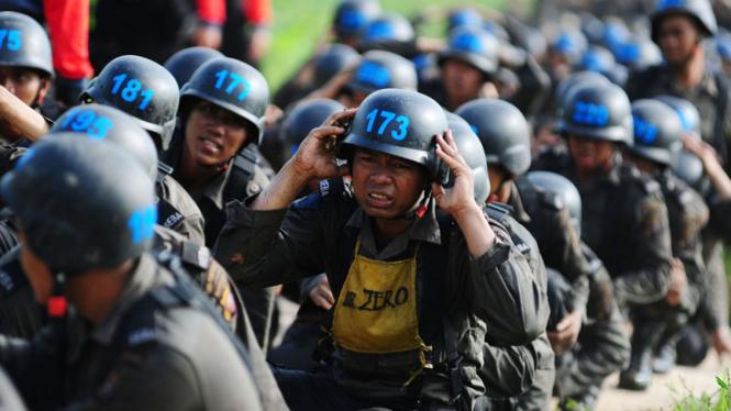 Ilustrasi penerimaan polisi baru