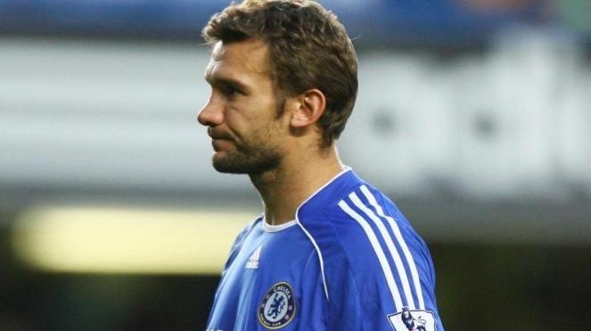 Andriy Shevchenko ketika memperkuat Chelsea