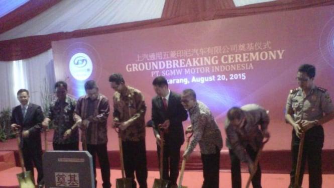Ground breaking pabrik PT SGMW Motor Indonesia di Deltamas