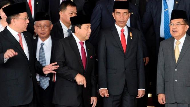 Presiden Joko Widodo dan Ketua DPR Setya Novanto beberapa waktu lalu.
