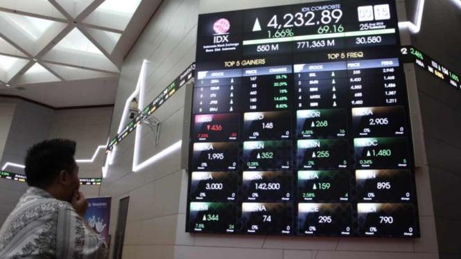 Suasana di Bursa Efek Indonesia