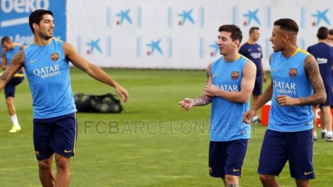 Luis Suarez, Lionel Messi, dan Neymar