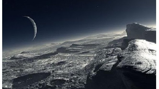 Permukaan Pluto.